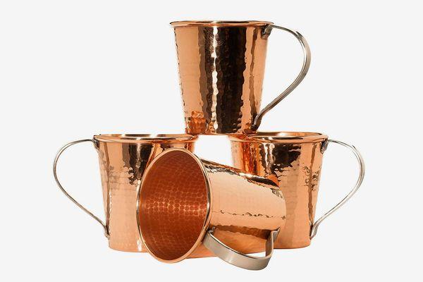 Sertodo Copper CMM-18-4 Moscow Mule Mug Set