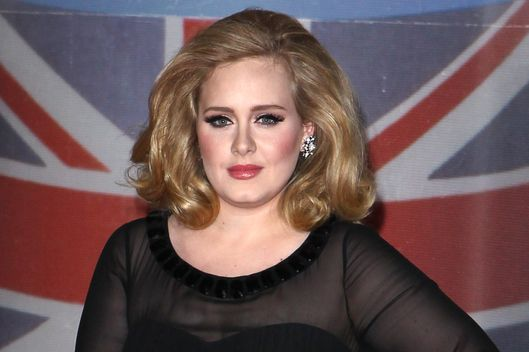 LONDON, UNITED KINGDOM - FEBRUARY 21: Adele attends the BRIT Awards 2012 at 02 Arena on February 21, 2012 in London, England. (Photo by Fred Duval/FilmMagic)