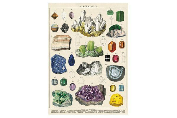 Cavallini & Co. Mineralogie Chart