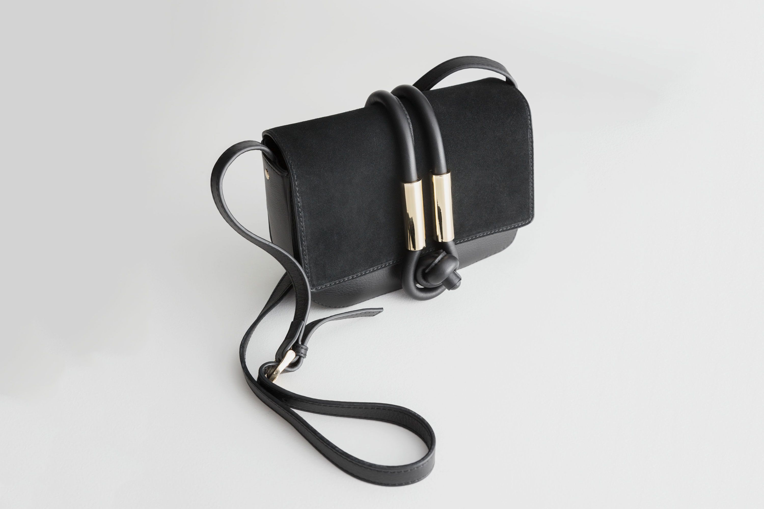 & Other Stories Leather Knot Crossbody Bag