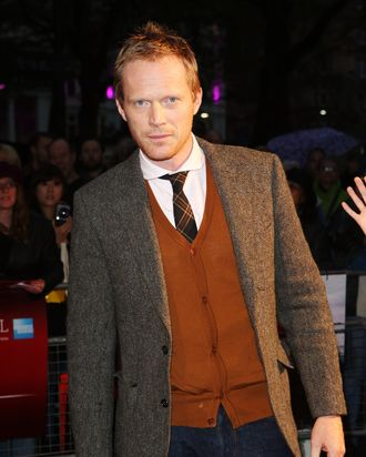 LONDON, ENGLAND - OCTOBER 11: Actor Paul Bettany attends the premiere of 'Blood' during the 56th BFI London Film Festival at Odeon West End on October 11, 2012 in London, England. (Photo by Tim Whitby/Getty Images for BFI)
