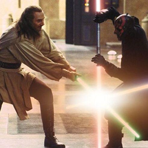 how the phantom menace s epic lightsaber fight came together
