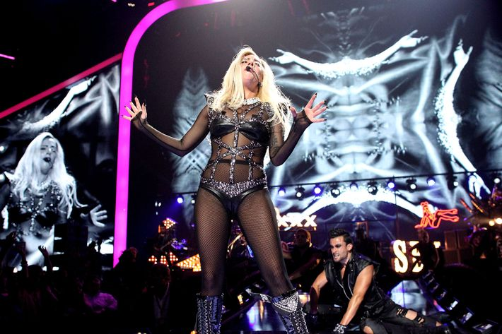 LAS VEGAS, NV - SEPTEMBER 24:  Musician Lady Gaga performs onstage at the iHeartRadio Music Festival held at the MGM Grand Garden Arena on September 24, 2011 in Las Vegas, Nevada.  (Photo by Christopher Polk/Getty Images for Clear Channel)