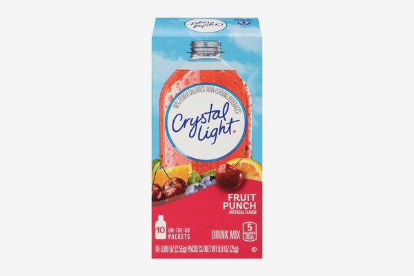 Crystal Light Drink Mix, Fruit Punch, on the Go Packets, 10 Count (Pack of 6 Boxes)