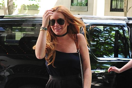 Lindsay Lohan is seen in Chelsea on August 5, 2013 in New York City.