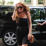 NEW YORK, NY - AUGUST 05: Lindsay Lohan is seen in Chelsea on August 5, 2013 in New York City. (Photo by Alo Ceballos/FilmMagic)