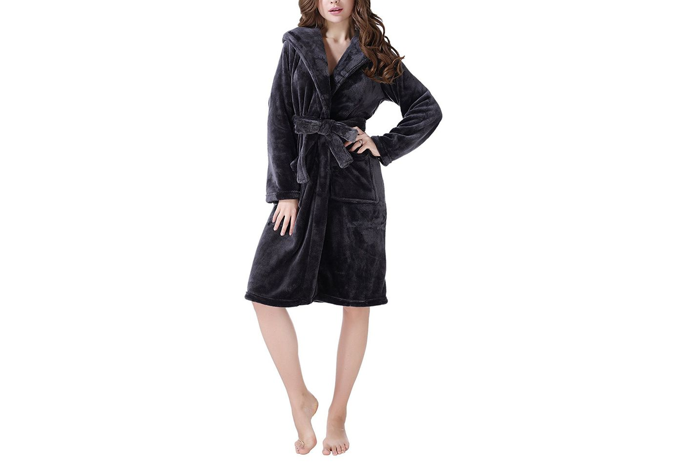 Richie House Women's Plush Soft Warm Fleece Bathrobe Robe