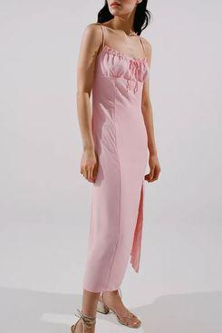UO April Tie Back Midi Slip Dress