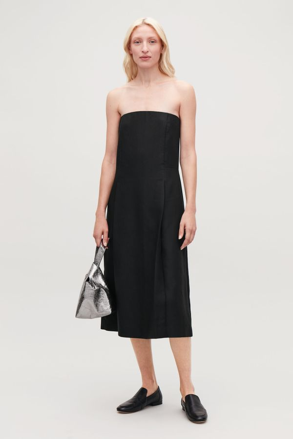 COS Pleated Strapless Dress