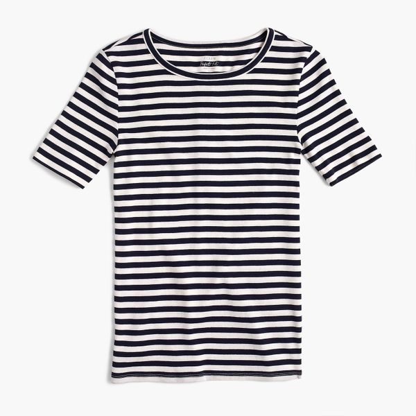 Slim Perfect T-shirt in Navy/Ivory Stripe