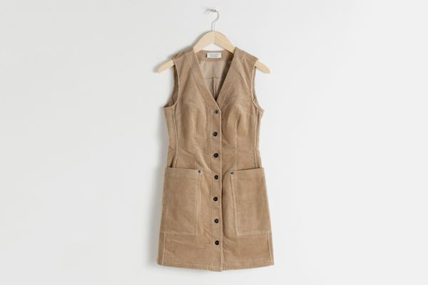 Corduroy Workwear Mini Dress