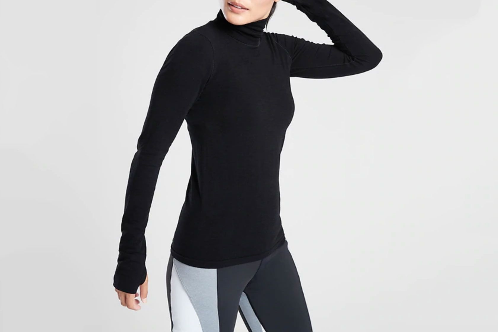 Athleta Foresthill Merino-Wool Ascent Turtleneck