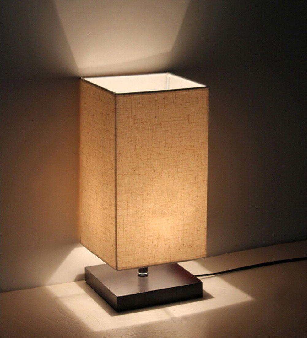 Minimalist Solid Wood Table Lamp Bedside Desk At