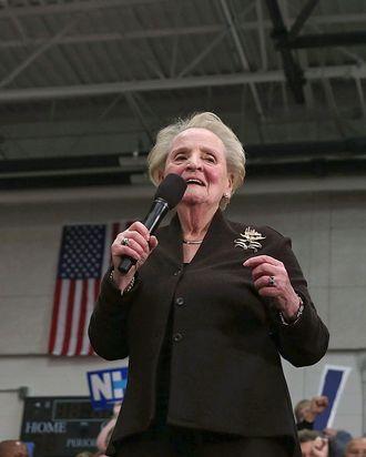 Madeleine Albright endorsing Hillary Clinton,