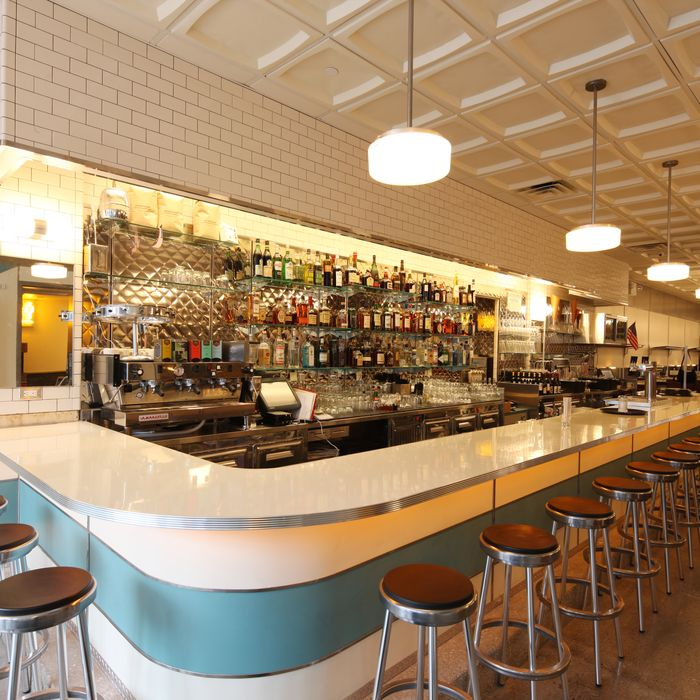 The original Bowery Diner's counter.