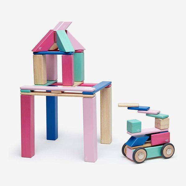 Tegu Magnetic Wooden Block Set, Blossom