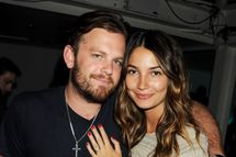 Musician Caleb Followill (L) and Lily Aldridge attend the launch of Le Crazy Horse cabaret show at Supperclub on May 24, 2011 in London, England.