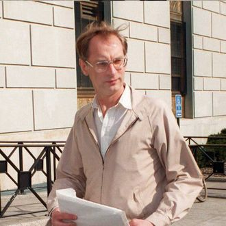 In this 19 April file photo, Bernhard Goetz arrives at State Supreme Court in the Bronx, New York, where he faced a 50 million USD lawsuit for the1984 shooting of four youths on the New York city subway. Goetz was ordered by the court 23 April to pay 43 million USD to Darrel Cabey, one of his victims who was left paralyzed and suffered mental damage from the shooting.NEW YORK, UNITED STATES: In this 19 April file photo, Bernhard Goetz arrives at State Supreme Court in the Bronx, New York, where he faced a 50 million USD lawsuit for the1984 shooting of four youths on the New York city subway. Goetz was ordered by the court 23 April to pay 43 million USD to Darrel Cabey, one of his victims who was left paralyzed and suffered mental damage from the shooting. AFP PHOTO/Stan HONDA AFP PHOTO/Stan HONDA (Photo credit should read STAN HONDA/AFP/Getty Images)