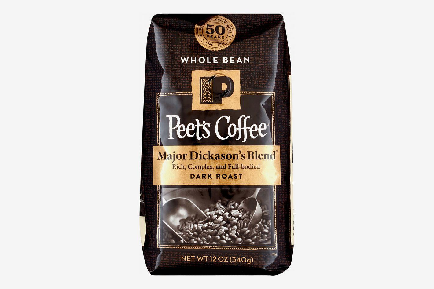 Peet's Coffee Dark Roast Whole Bean Coffee, Major Dickason's Blend