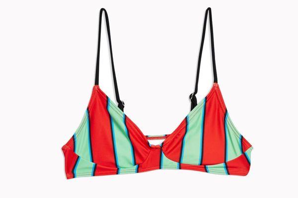 Topshop Classic Stripe Bikini Top