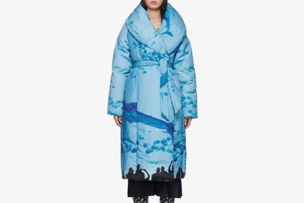 Saks Potts Blue Sauna Puffer Coat