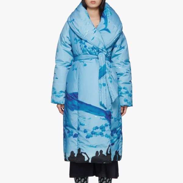 Saks Potts Blue Sauna Puffer Coat