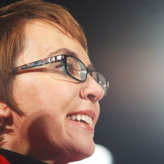 TUCSON, AZ - JANUARY 8: U.S. Rep. Gabrielle Giffords (D-AZ) smiles during the