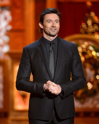 WASHINGTON, DC - DECEMBER 15: Host Hugh Jackman speaks onstage at TNT Christmas in Washington 2013 at the National Building Museum on December 15, 2013 in Washington, DC. 24313_002_0231.JPG (Photo by Theo Wargo/WireImage)