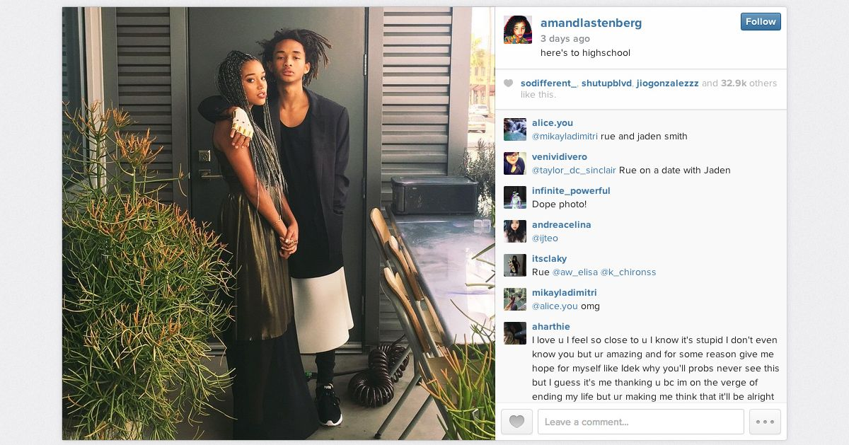 Jaden smith is owning the l a prom circuit for Jaden smith 2015