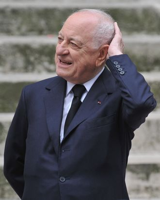 Pierre Berge, satisfied.