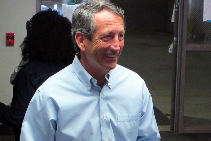 Former South Carolina Gov. Mark Sanford leaves the voting booth after voting at his precinct in Charleston, S.C., on Tuesday, April 2, 2013. Sanford is facing former Charleston County councilman Curtis Bostic in the Republican runoff for South Carolina's vacant 1st District congressional seat.  (AP Photo/Bruce Smith)