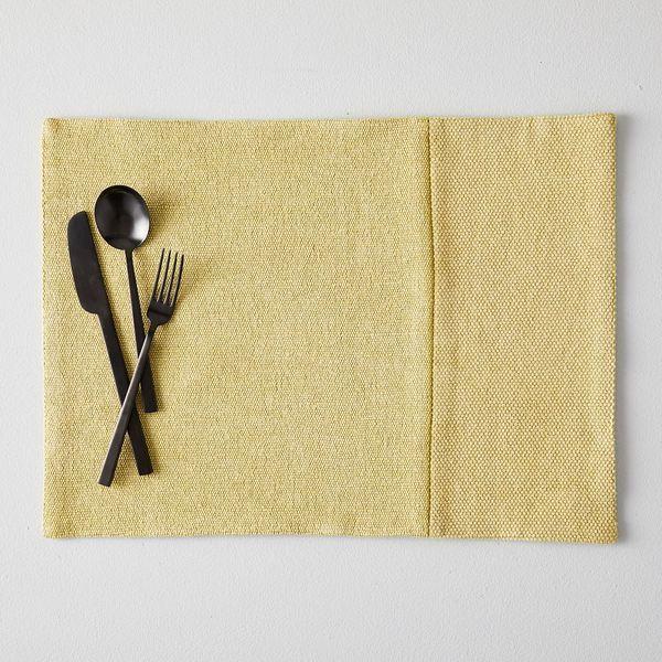 West Elm Cotton Canvas Placemats (Set of 2, Dark Horseradish)