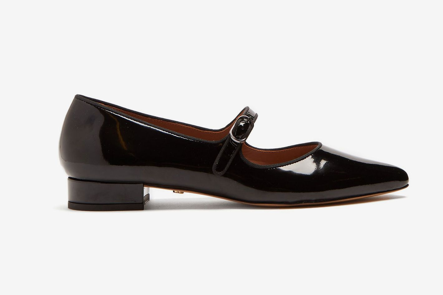 Alexa Chung Point-Toe Patent Leather Flats
