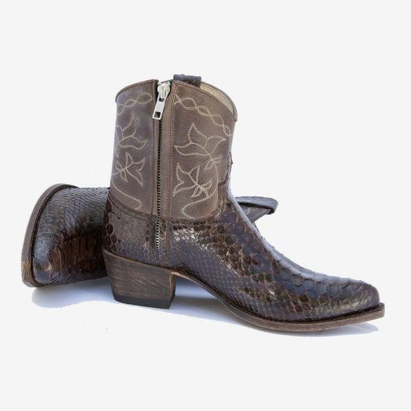 Brown Python Short Boot