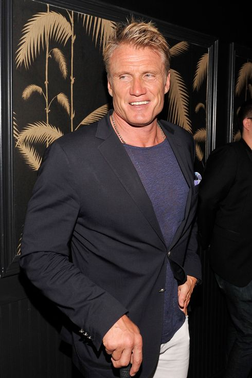 "Dolph Lundgren attends Girard-Perregaux And The Cinema Society With DeLeon Host a Screening Of Sony Pictures Classics' ""I'm So Excited""  after-party at No. 8 on June 6, 2013 in New York City."