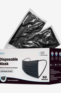 WeCare Individually Wrapped Disposable Face Masks (50-Pack)