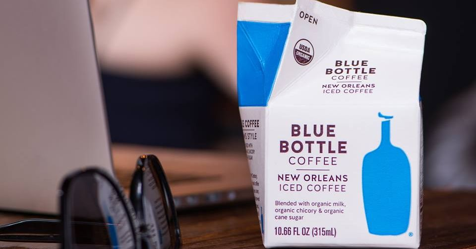 Blue Bottle Chicory Coffee Cartons