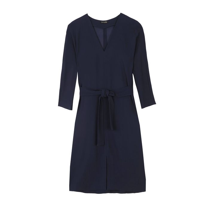 Massimo Dutti Belted Dress.