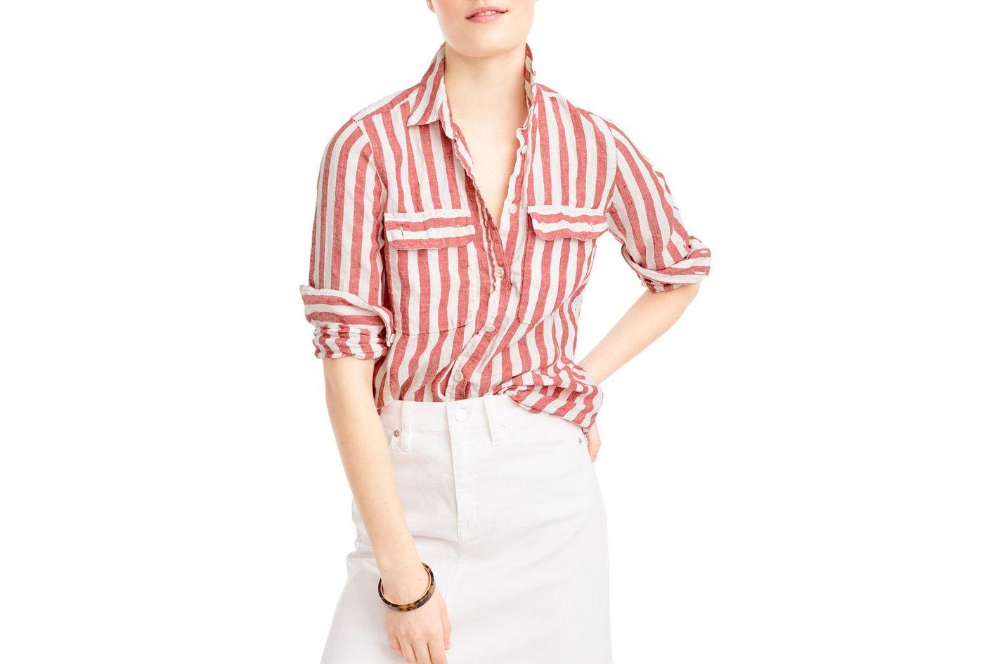 J.Crew Wexel Stripe Linen Shirt