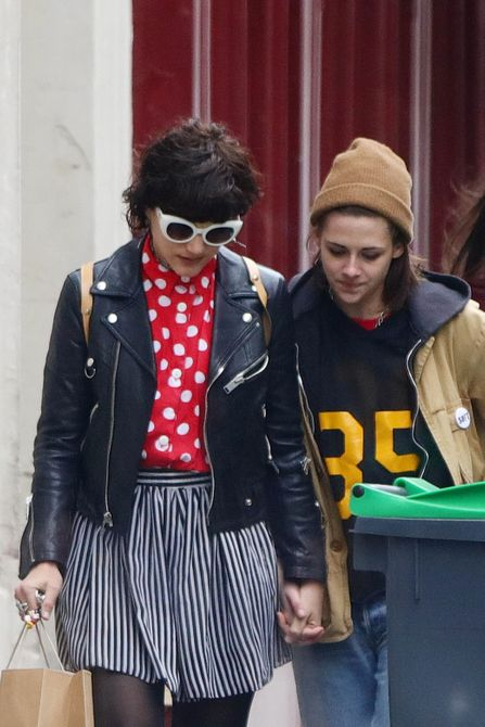 Kristen Stewart spotted out with her girlfriend Stephanie Sokolinski A.K.A SoKo during a romantic stroll around Paris