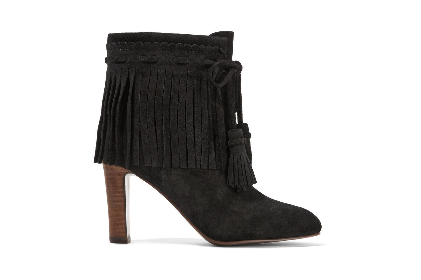 See by Chloe Fringed Suede Ankle Boots