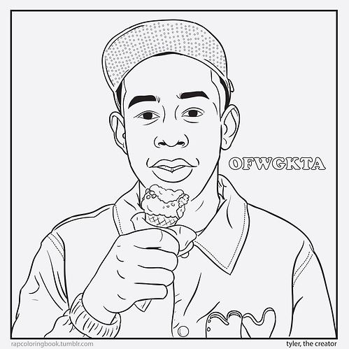 Holiday Gift Idea A Rapper Coloring