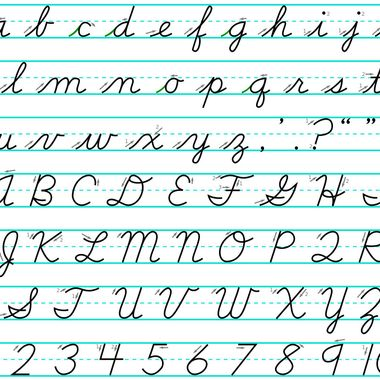 Worksheets Cursive T conservatives are very upset that kids these days cant write in cursive