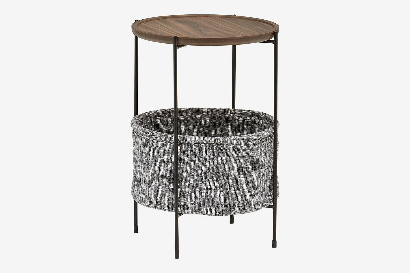 Rivet Meeks Round Storage Basket Side Table At Amazon