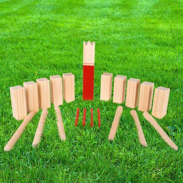 Hey! Play! Viking Chess Lawn Game Kubb
