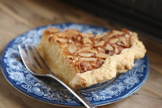 Toasted almond chess pie.