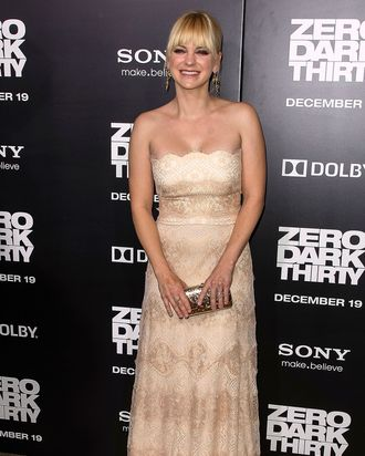 Actress Anna Faris arrives at the premiere of Columbia Pictures'