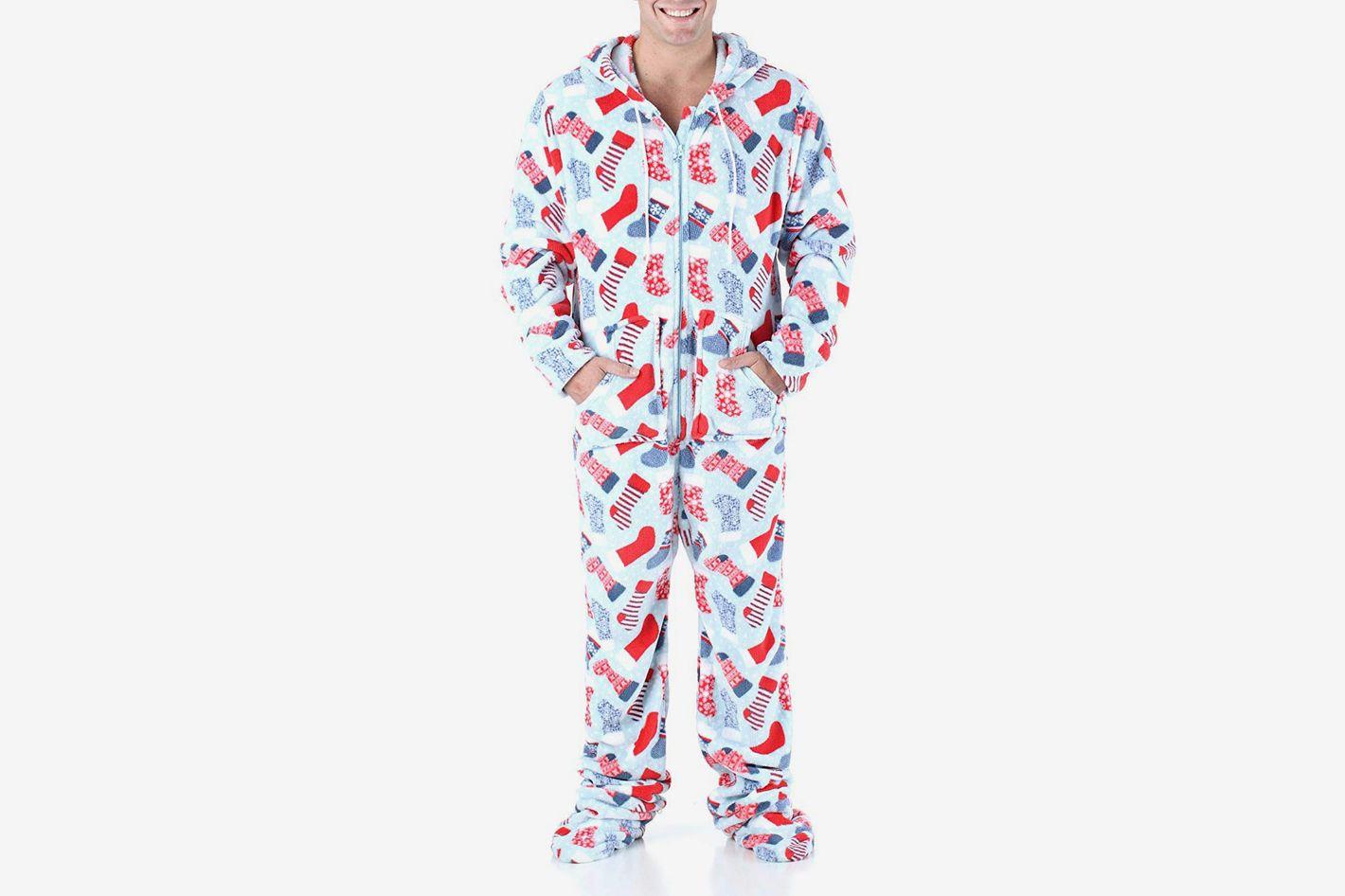 96d2037722 SleepytimePjs Men s Sleepwear Fleece Hooded Onesie