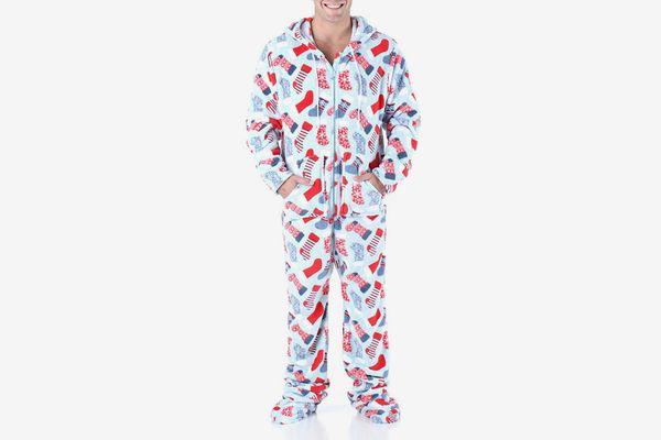SleepytimePjs Men's Sleepwear Fleece Hooded Onesie