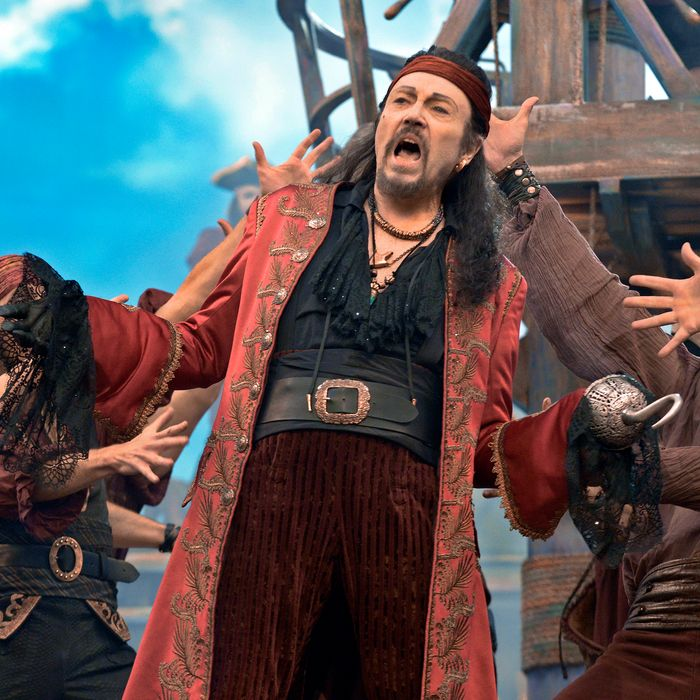 PETER PAN LIVE! -- Dress Rehearsal -- Pictured: Christopher Walken as Captain Hook -- (Photo by: Virginia Sherwood/NBC)